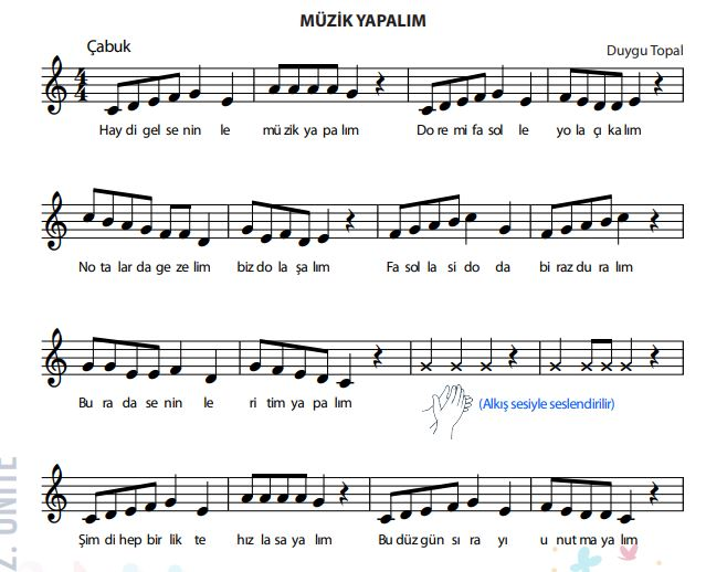 6 Sınıf 36 Sayfa Müzik Yapalım Notaların Notalar Net Nota Arşivi